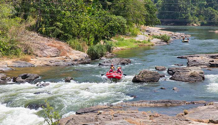 Kitulgala rafttocht Kelani rivier