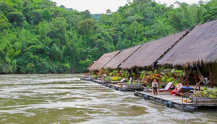 Kanchanaburi - River Kwai jungle rafts